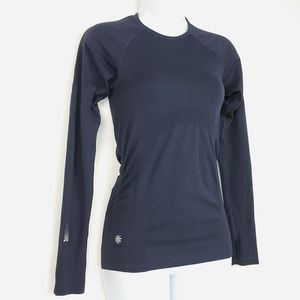 Athleta Speedlight Long Sleeve Top Navy Stretch